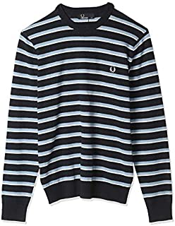 Fred Perry Men's FINE STRIPE CREW NECK JUMPER NECK JUMPERS