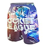 Rocket Car League Teen Beach Shorts Custom Cartoon Boardshort Boys Girls Surf Bathing Trunks Quick Dry Gym Shorts Swimsuit 7-8 Years
