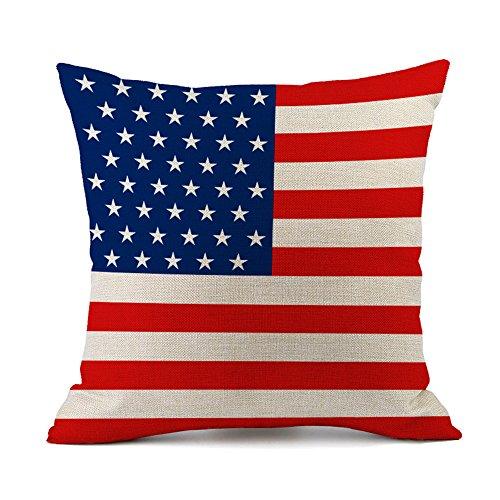 National Bandiera federa per cuscino cotone lino decorativo cuscino custodia divano auto Home Decor 45x 45cm America