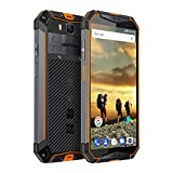 10300mAh Akku Outdoor Smartphone, 5,7 Zoll FHD+ Display, 64GB interner Speicher 4GB RAM, 21MP + 16MP Kamera, Dual SIM Global LTE, NFC, Ulefone Armor 3 (Orange)