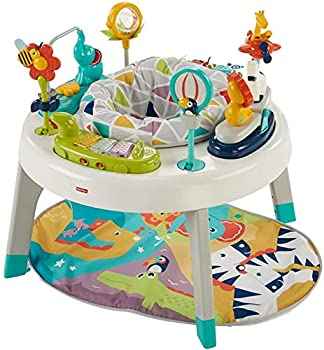 Fisher-Price Sit-to-Stand 3-in-1 Entertainer Converts From Newborn Mat and Infant Activity Center to Toddler Play Table Multi