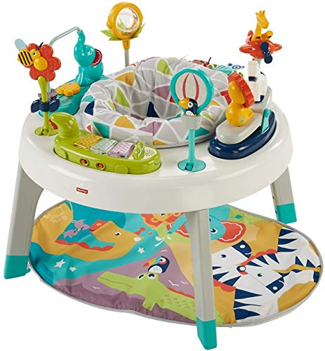 Fisher-Price Sit-to-Stand, 3-in-1 Entertainer Converts From Newborn Mat and Infant Activity Center to Toddler Play Table, Multi