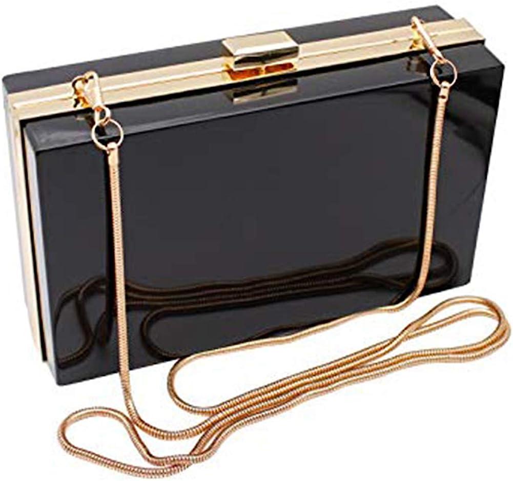 1930s Handbags and Purses Fashion L-COOL Cute Transparent Acrylic Shoulder Bag Clear Crossbody Evening Clutch Purse Handbag With 2 Gold Chain For Women  AT vintagedancer.com