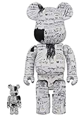 """A Medicom import Pays tribute to the late artist Jean-Michel Basquiat 2 pack of 100% and 400% sizes Stand 2 3/4"""" And 11"""" Tall respectively Fully poseable"""