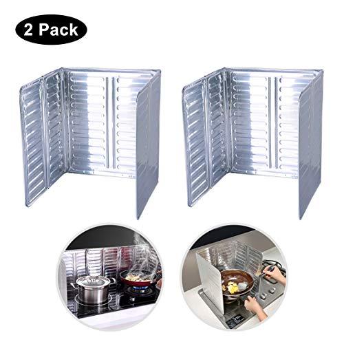 Öl-Seitiger Spritzschutz, 2 Stück, Küchen-Antihaftbeschichtung, Öl-Spritzschutz, Aluminium, 84 x 32 cm