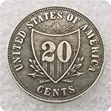 MOMOKY Copy USA 1875 Sailor Head Twenty Cents Patterns 20 Cent Coin-Antique Silver Dollar Morgan Coin Collection US Silver Coin Replica Discovery Collection
