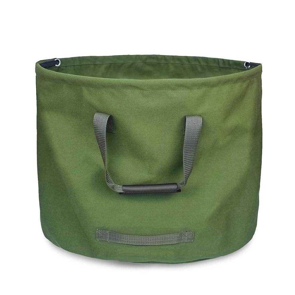 胚冷える逸話Rakuby 折りたたみ ガーデンバッグ キャンバス 再利用 可能 ガーデニングバッグ 防水 ガーデンリーフ 廃棄物バッグ 廃棄物袋ヤード廃棄物バッグ