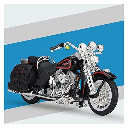 El Maquetas Coche Motocross Fantastico 1:18 Motocicleta De Aleación Simulación En Miniatura Para Harley 1998 FLSTS Heritage Springer Modelo Colección Adultos Regalo Coche Juguete Regalos Juegos Mas Ve