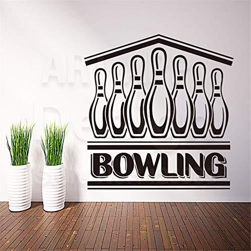 Wandtattoo Wohnzimmer Bowlingkugel Worte Haus Dekoration Sport Charakter Abziehbilder