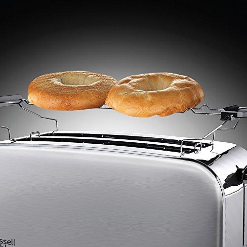 Russell Hobbs 23610-56 Toaster Grille Pain Adventure, 2 Longues Fentes Spécial Baguette, 6 Niveaux de Brunissage, Chauffe Viennoiserie