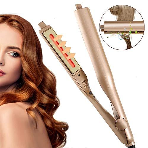 HAIRCURLER Haarglätter, Glätteisen und Lockenstab 2 in 1, Keramik Haarpflege Glätten und Locken, mit LCD-Display, Einstellbare Temperatur(140-220℃), PTC schnelle Erwärmung für Alle HaartypenRose Gold