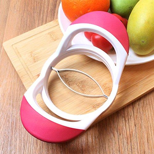 Dolity Mango Peach Pitter Stoner Corer Fruits Chopper Splinter Slicer Divisor 3 cores para escolher - Rosa Vermelho
