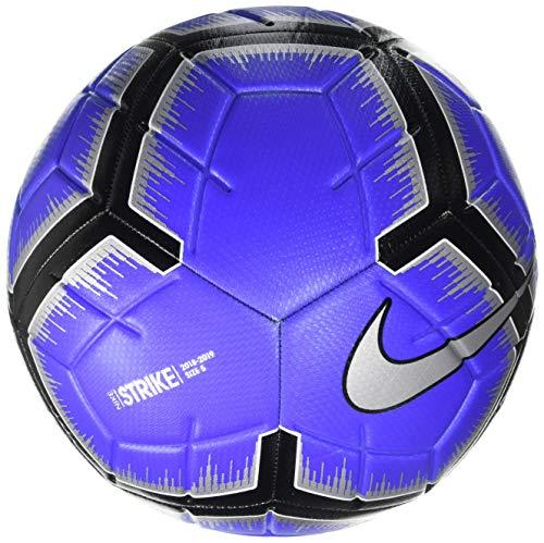 Nike Fußball Ball Strike Ball, Racer Blue/Black/Metallic Silv, 5, SC3310