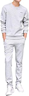 New Men's Autumn Suit Pure Color Comfortable Long Sleeved Trousers Suit