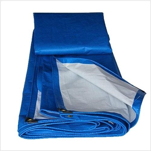 LJL Bache imperméable Bache, Toile de Store Anti-poussière de Prougeection Solaire de Camion, polyéthylène Bleu + Blanc Bache Robuste (Couleur   A, Taille   5 x 7m)