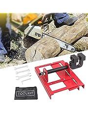 InLoveArts Mini motorsågkvarn, virkskärning, motorsågar kvarn timmer styrskena för byggnadsarbetare träarbetare, innehåller 1 elektrisk kvarn 1 uppsättning monteringsverktyg