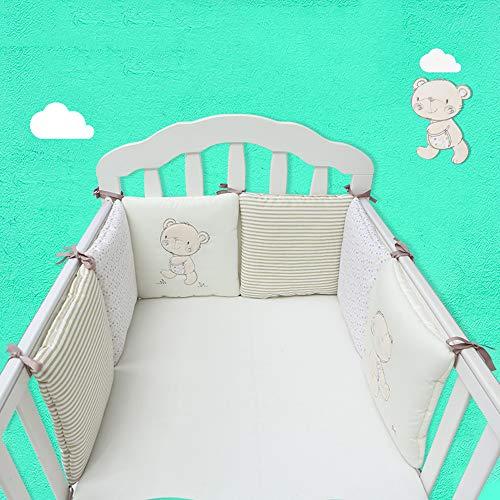Protège-pare-chocs rembourrés lavables à la machine pour le berceau, protège-pare-chocs sécuritaires pour filles, bébé garçon, coton tricoté, 30 * 30cm / pièce