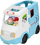 ​Roll the RV along to send Buzz Lightyear & Jessie on an adventure! ​Open up the vehicle to reveal a campsite playset! ​Turn the Discovery Button to reveal a gameboard ​Peek-a-boo! Open the cooler for a surprise For kids ages 1 1/2 - 5 years