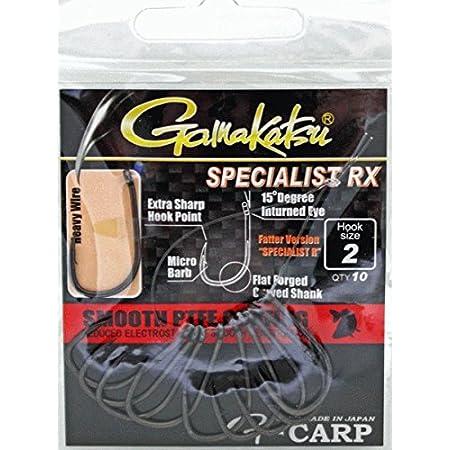 /Öhrhaken 10 Karpfenhaken Gamakatsu Hump Back Hook Einzelhaken zum Angeln auf Karpfen Angelhaken zum Karpfenangeln