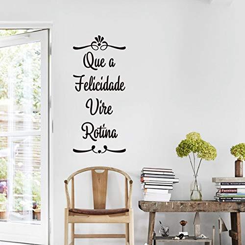 LSMYE Portugiesische Wandaufkleber Home Decor Vinyl Wandtattoos Für Portugiesische Home Living Room Dekoration Burgund 44X20 cm