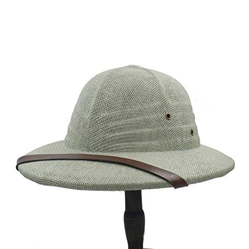 ZHLL- Gorras Novedad Toquilla Straw Helmet Pith Sun Hat para Hombre Vietnam War Army Hat Dad Boater Bucket Deportes y Aire Libre (Color : 5, tamaño : 56-59CM)