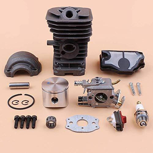 Juego de tornillos de cabeza cilíndrica de pistón de cilindro de 40 mm compatible con Husqvarna 142141137136 Juego de reconstrucción de motor de repuesto para motosierra