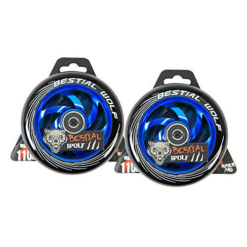 KIT 2 TWISTER-110 Rueda Bestial Wolf 110 mm para patinetes Pro Scooters ideal para Parck y freestyle (Azul)