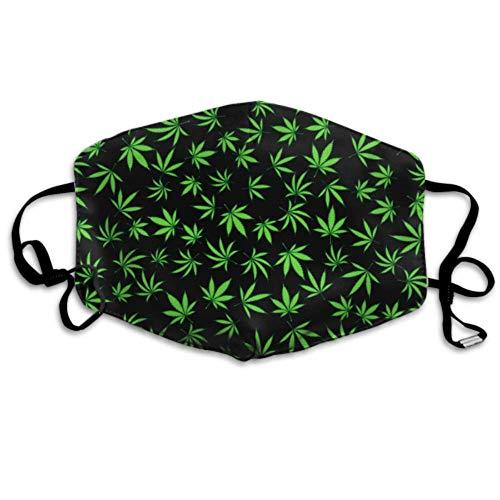 Blumen Cannabis Blätter Abdeckung Atem Staub Mode Mund Abdeckung
