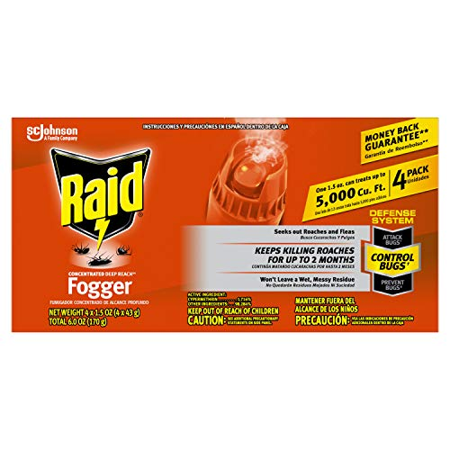 Raid Concentrated Fogger 1.5 Oz - 4 Pack