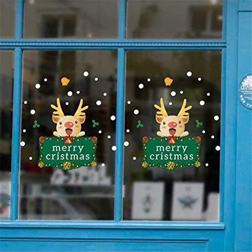 DIY PVC muursticker muur vrolijk kerstfeest fFr Kids kamers winkel vitrine raam muurschildering verwijderbare Decor Decal Adesivo de Parede-B