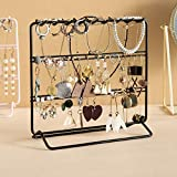 Jewelry Organizer , Jewelry Holder , Perfect Earrings, Necklaces and Bracelets Holder ,Black
