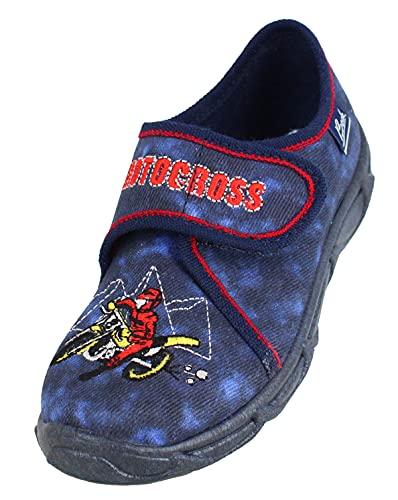 Beck 3035 Motocross dunkelblau Hausschuh, 31 EU