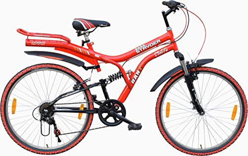 Cyclo India TATA Stryder MTB Dart DS 6 Speed Revo Shifter Semi Installed Road Cycle (26 Inches, Red Black)