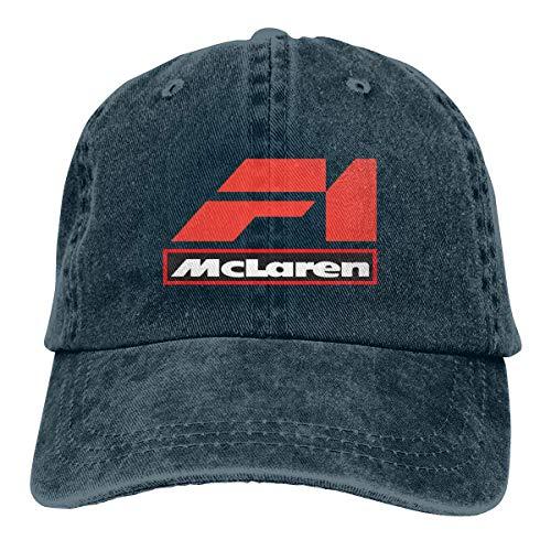 Jhonangel Personalizado Mclaren F1 Racing Motors Logo Gorra de béisbol Vintage Dad Hat Polo ajustable Trucker Unisex Style Headwear