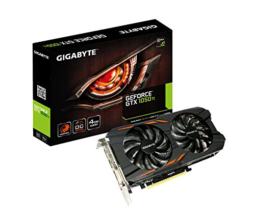 Gigabyte GV-N105TWF2OC-4GD GeForce GTX 1050 Ti Windforce OC 4G GDDR5 4GB schwarz