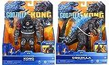 Godzilla vs. Kong 2021 Bundle of 2 Monsterverse Movie Series 6' Action Figures Kong with Battle Axe Godzilla Heat Ray