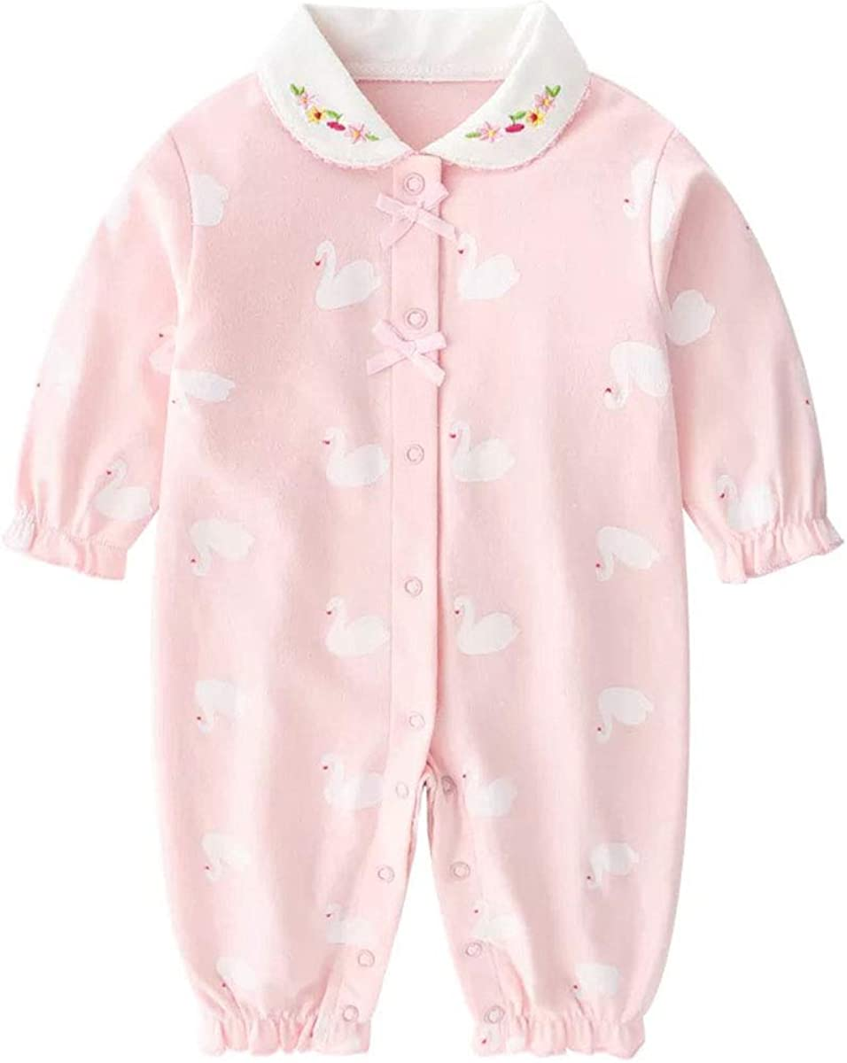 Baby One Piece Romper Soft Cotton Sleepwear Footed Jumpsuit for 0-12 Month Infant