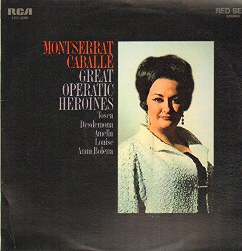 Montserrat Caballe Great Operatic Heroines LP RCA SER5598 EX/EX 1971 with insert