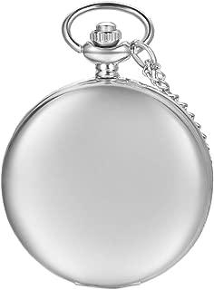 AVANER Pocket Watch Vintage Analog Quartz Pocket Watch Modern Smooth Polished Pocket Watch for Men and Women