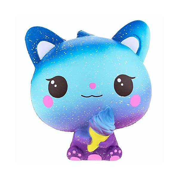 QAES Lovely Squishies, Kawaii Ice Cream Cat Penguin Unicorn Squishy, Creamy Aroma Slow Rising Squeeze Toys for Boys and Girls Gifts Soft Toy (Color : 10x10 cm) 5