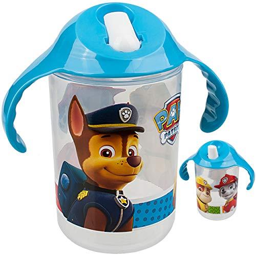 alles-meine.de GmbH Trinklernbecher / Trinklerntasse / Trinklernflasche - Paw Patrol - Hunde - 390 ml - BPA frei - auslaufsicher - Baby Kinder - einklappbarer Trinkschnabel - Sch..