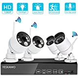 <span class='highlight'><span class='highlight'>YESKAMO</span></span> Wireless CCTV Camera System [Floodlight & Audio] 1080P 8CH NVR Recorder, 2 Floodlight Camera & 2 Wifi CCTV Camera for Outdoor Home Security Camera System,Surveillance Cameras No Hard Drive