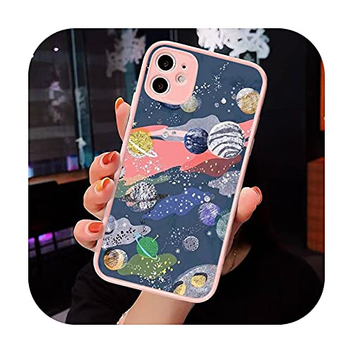 Moda caramelo colorido patrón teléfono caso mate transparente para iPhone 7 8 11 12 s Mini pro X XS XR MAX Plus cubierta funda-a4-iPhoneXs max