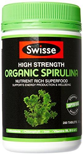 Swisse Ultiboost High Strength Organic Spirulina 1000Mg 200 Tablets