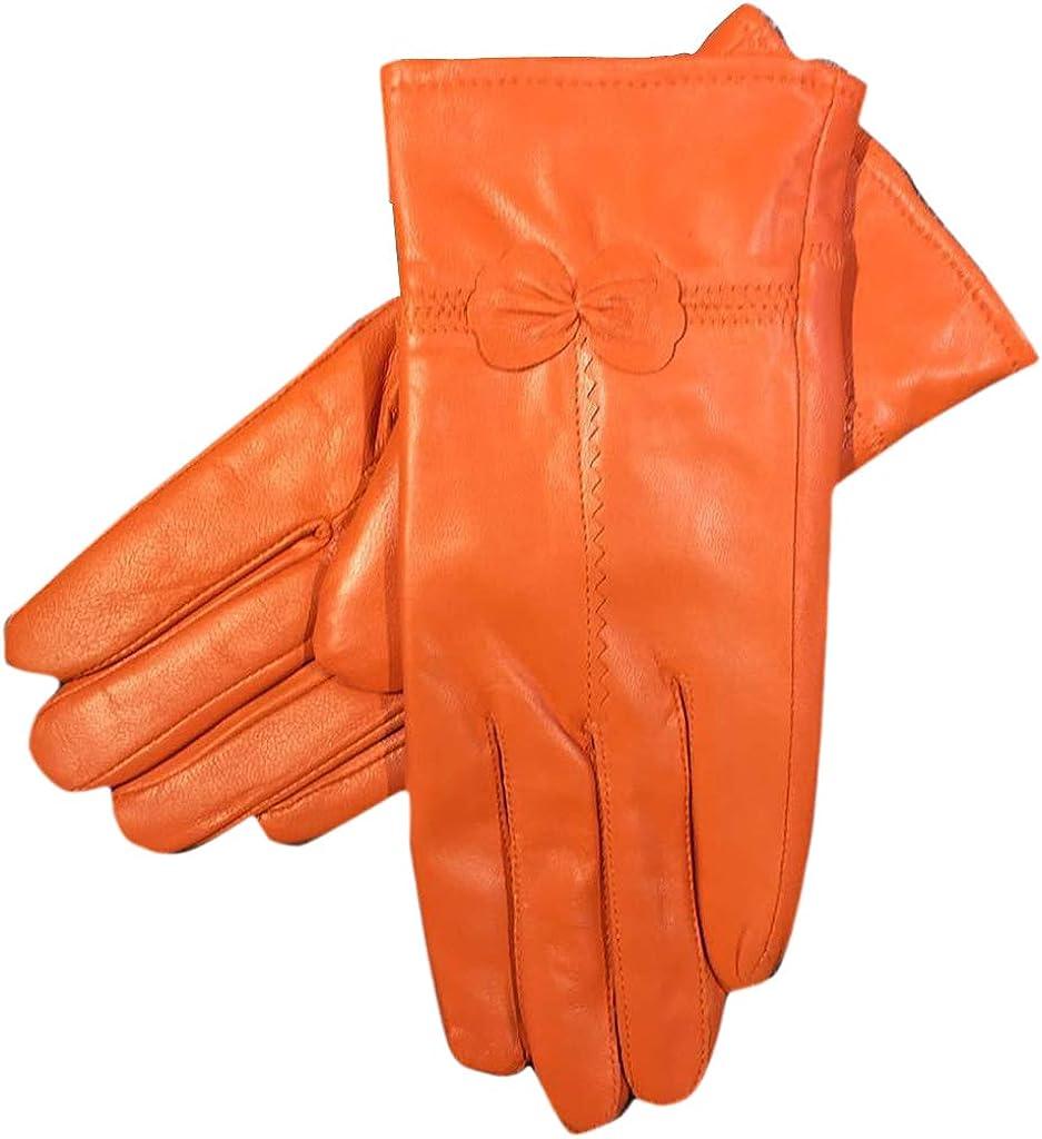 LeJulyeekay Womens Real Lambskin Leather Gloves Warm Fleece Lined Driving Gloves