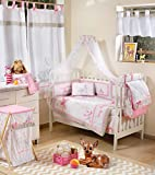 Blancho Pink Dearest Bambi Crib Bedding Accessory - Dresser Cover