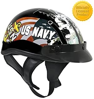 XXL : Outlaw T-70 Glossy Officially Licensed US Navy Half Helmet - XXL