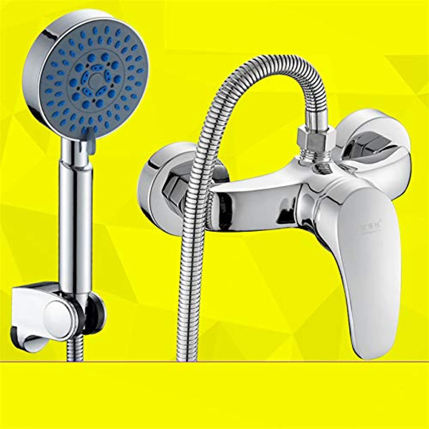 redOOY Taps Copper Shower Faucet Bathroom Hot And Cold Water Faucet Shower Mixing Valve Concealed B