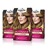 Palette Intense Cream Coloration Intensive Coloración del Cabello 7 Rubio Medio - Pack de 3