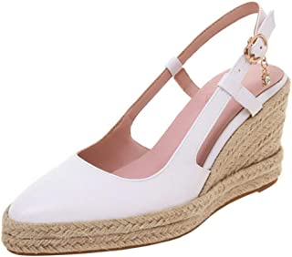 Melady Women Fashion Weaving Wedge High Heel Pumps